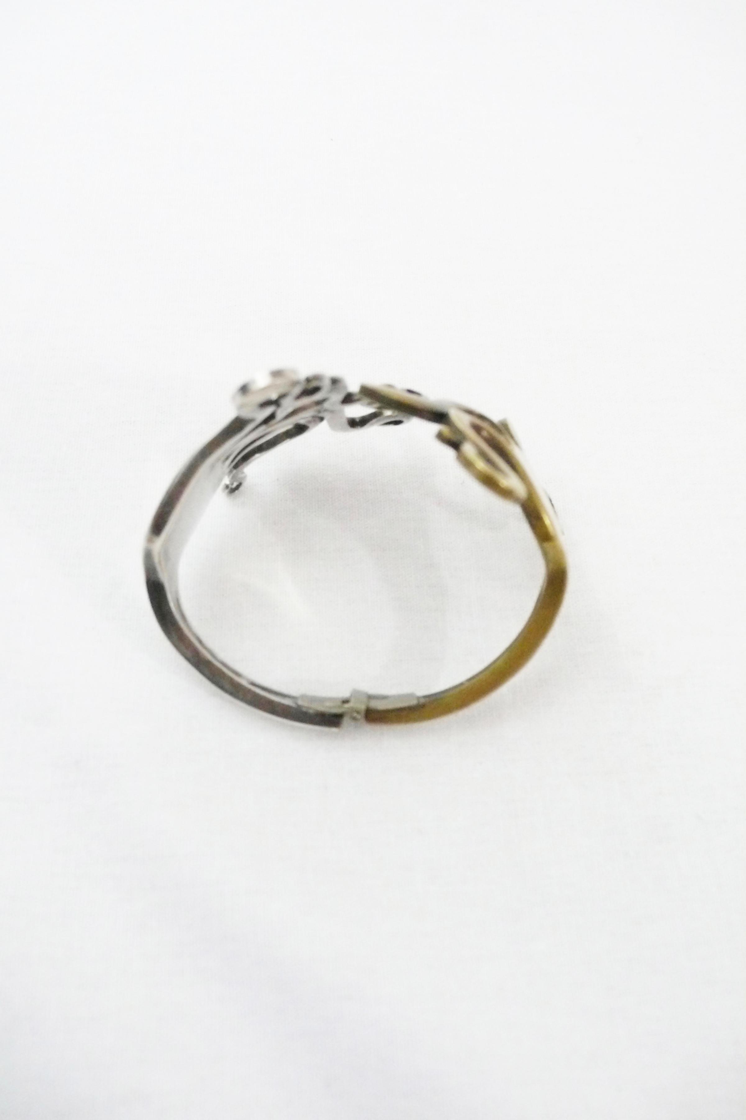 Silver and Brass Fork Bracelet