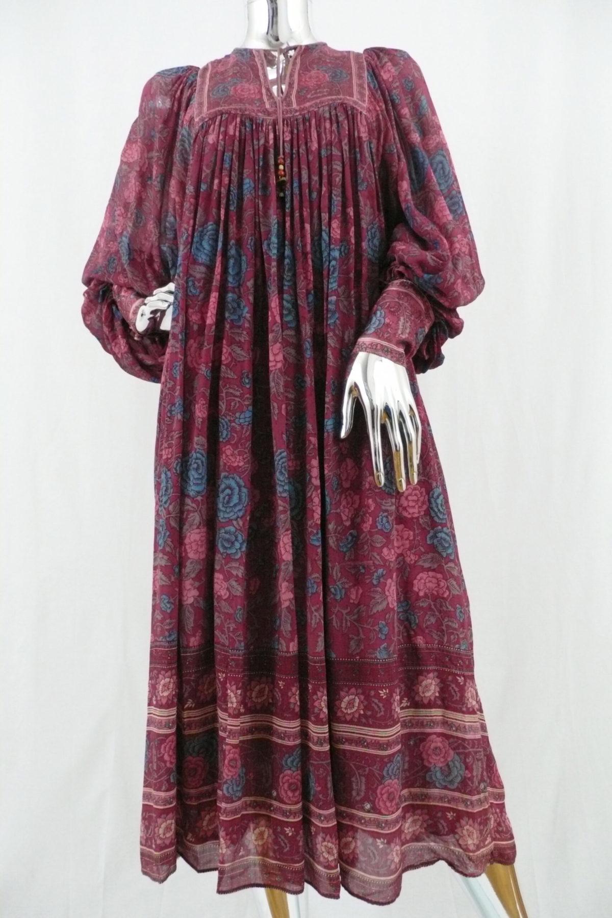 Red Indian Silk Dress