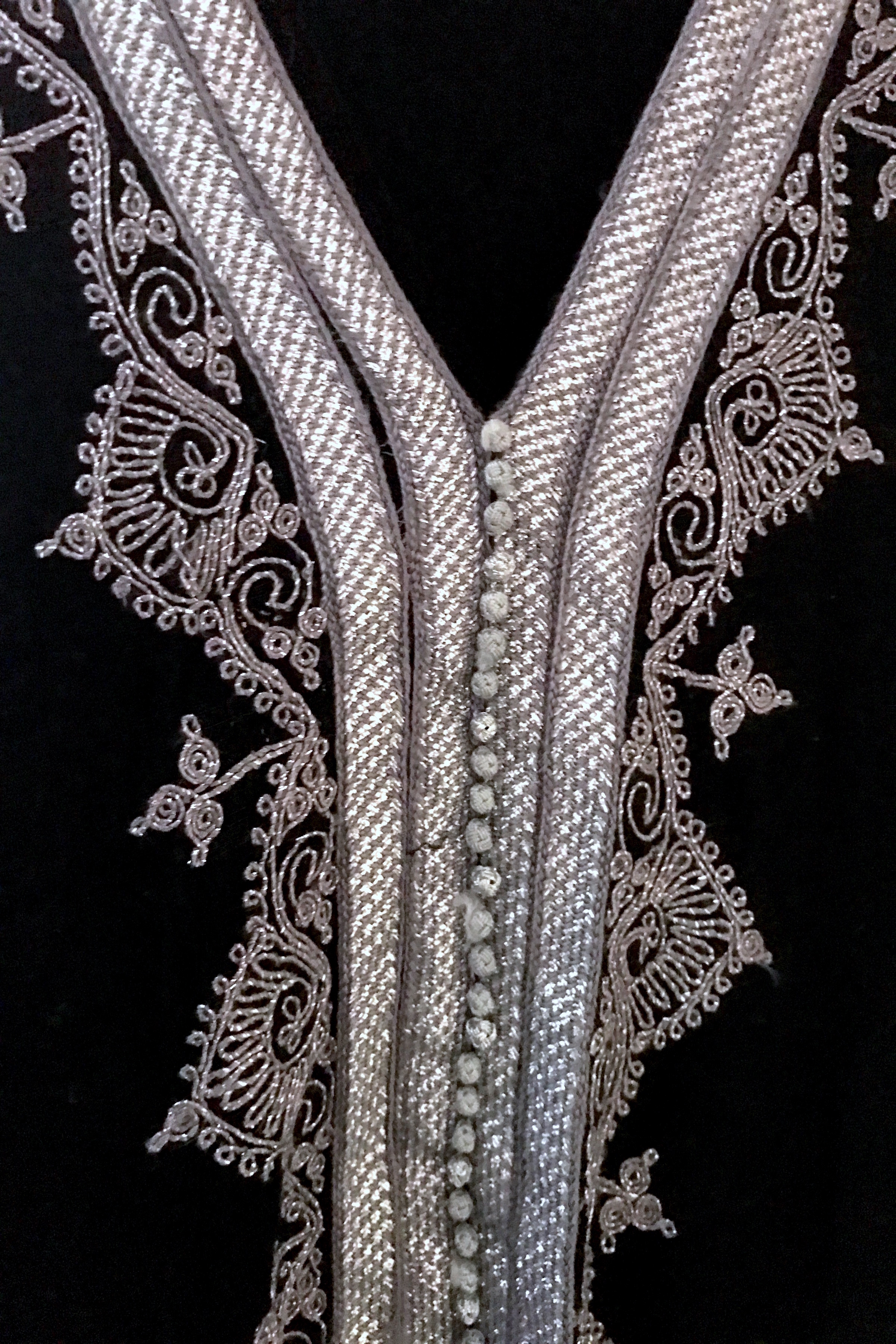 Embroidered Short Caftan