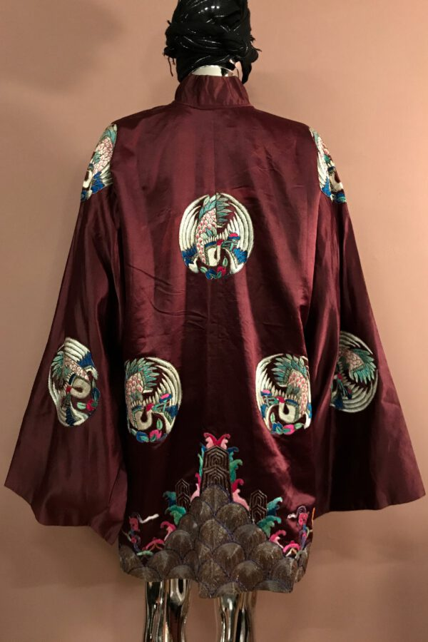 Embroidered Chinese satin coat