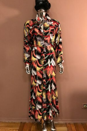 Norma Kamali tropical print dress
