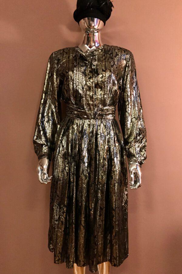 Floral lame' top & skirt set