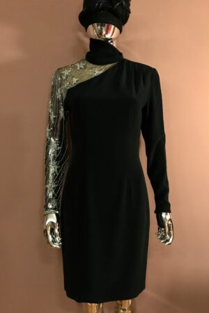 Bob Mackie dress with one-shoulder star sequins