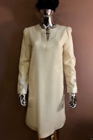 Jean Varon 70's vanilla wool tunic dress
