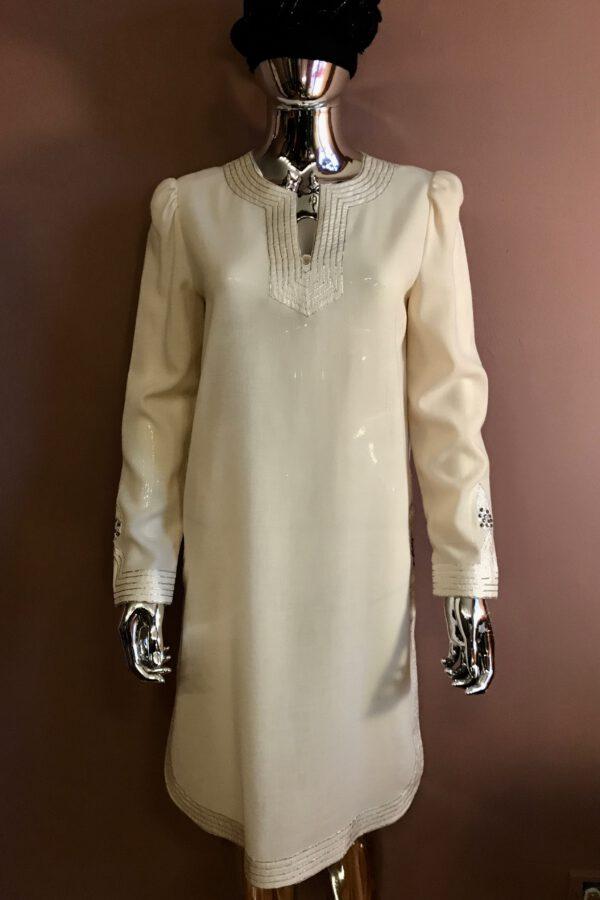 Jean Varon 70's vanilla wool tunic dress