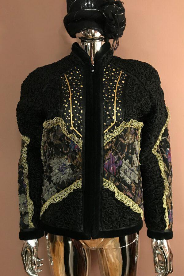 Koos van den Akker patchwork astrakhan jacket
