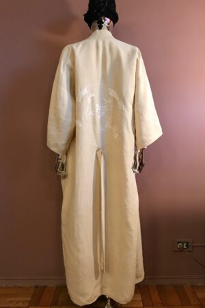 Silk pongee embroidered robe