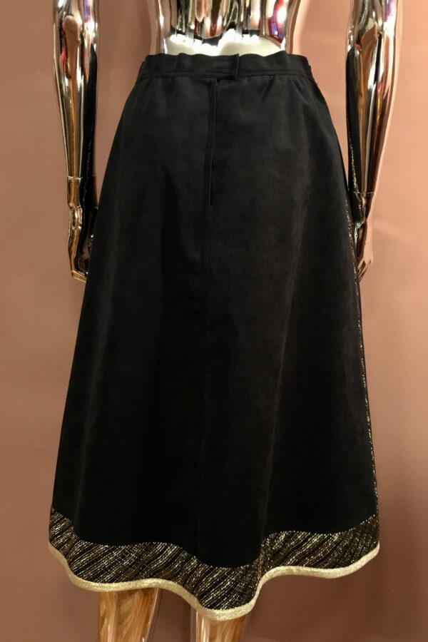 Black & gold appliqué skirt