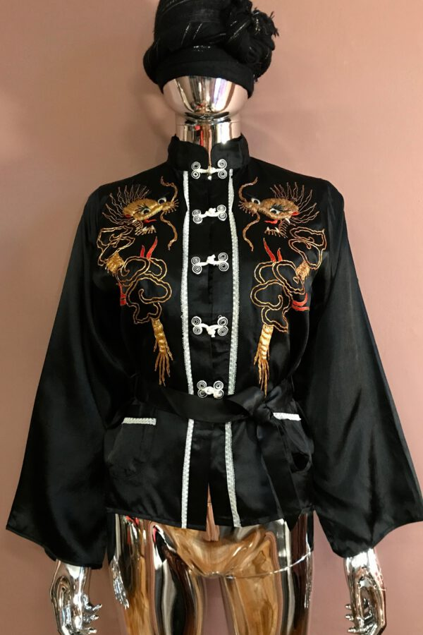 Chinese jacket with dragon embroidery